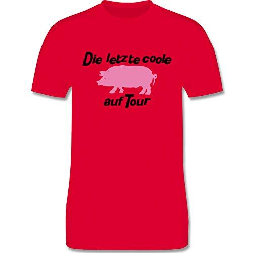 JGA Junggesellenabschied - Die letzte coole Sau auf Tour - Herren Premium T-Shirt Rot