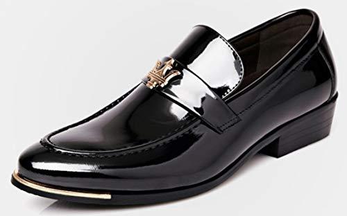 XWZG Scarpe da Uomo Scarpe da Lavoro in Pelle Casual Scarpe da Banchetto da Sposa Scarpe Oxford, Black