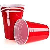 VIVALOO Large Plastic Cups; with Or Without Beer Pong Balls