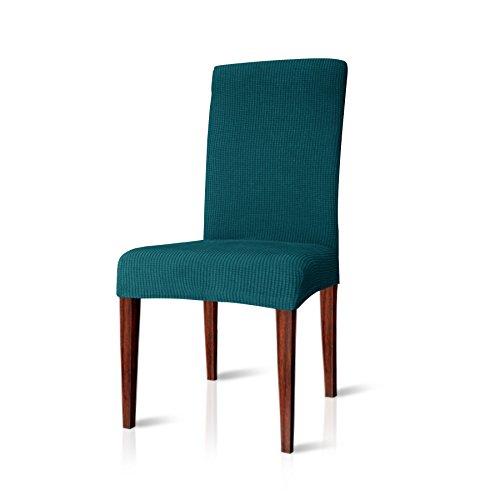 CHUN YI Jacquard Stuhlüberzug, Stuhlhusse, Stuhlbezug für Stuhl, mehrere Farben (Dunkeltürkis, 2 Stück)