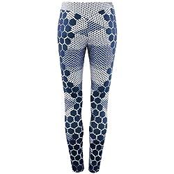 MORCHAN ❤ Femmes Sport Gym Yoga entraînement Taille Moyenne Pantalons de Course Fitness Leggings élastiques Jeans Combinaisons Pantalons Courts Collants Knickerbockers(S,Blanc)