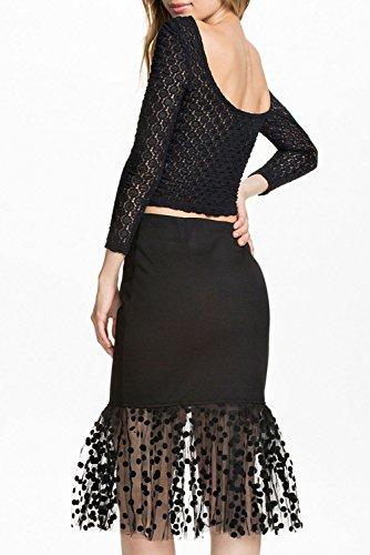E-Girl femme Noir SY6728 robe de soirée Noir
