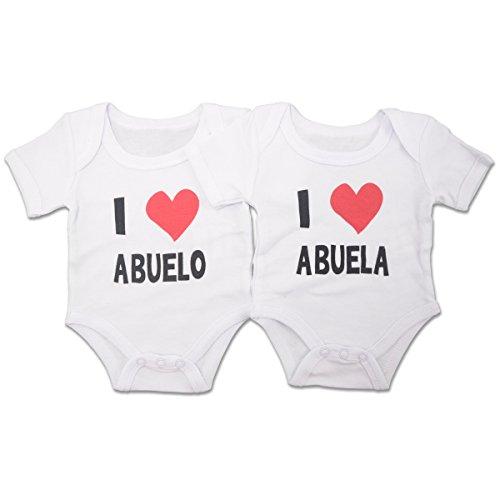 PEKITAS Pack 2 Bodies Body Bebé Niño 100% Algodón 0-3 Meses