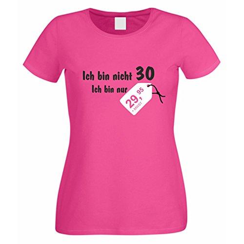 Damen T-Shirt Ich bin nicht 30 pink XS