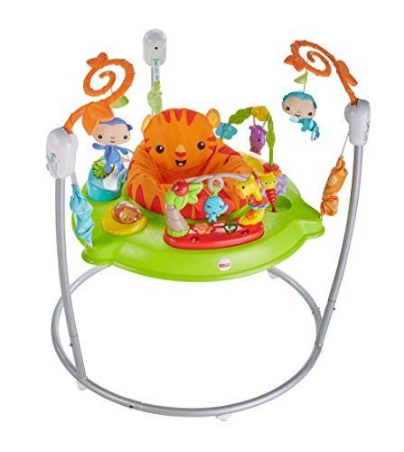 Fisher-Price CHM91 Roaring Rainforest Jumperoo, New-Born Baby Activity Centre with Music and Lights, Essential baby toys, toys for every developmental stage, baby toys, must have baby toys, the best toys for babies, gift ideas for babies, Christmas baby gift ideas, gifts for babies