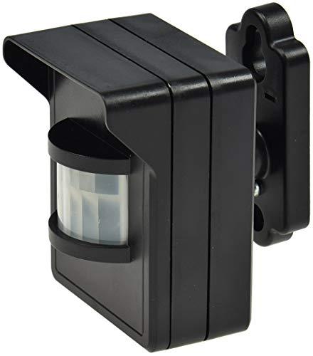 Funk Bewegungsmelder IP44 für Aussen Serie Pilota Casa 90° 8m Reichweite LED Geeignet FunkSignal bis 30 Meter Schwarz