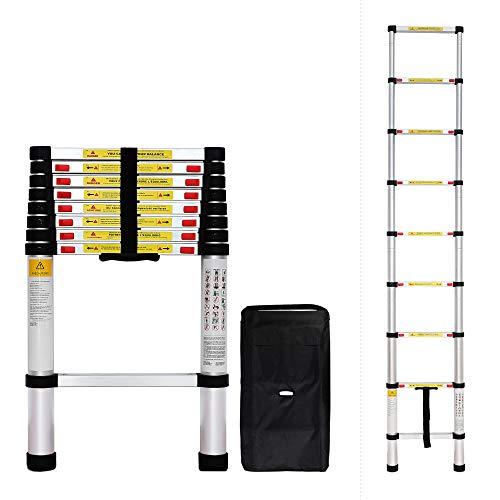 Todeco - Escalera Telescópica, Escalera Plegable - Carga máxima: 150 kg - Estándar/Certificación...