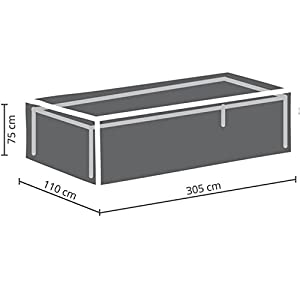 41jTN2tEwIL. SS300  - Perel Garden OCT300 Protective Cover for Garden Table, Max. 300 cm, Anthracite, 305 x 110 x 75 cm