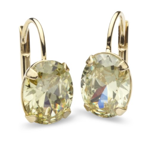 InCollections Damen-Ohrbouton 333/000 Gold mit Zirkonia limette 0020160116401