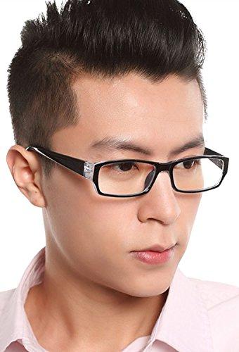 Preisvergleich Produktbild FakeFace Neu Baumwolle Unisex Retro Nerd Brille Rahmen Plain Glass Brille Klar Sonnenbrille Wayfarer Brille Nerdbrille in verschiedenen Farben