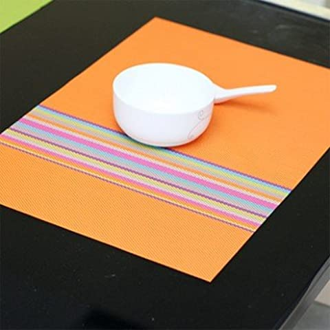 yifom Tovagliette Potholder Pad occidentale PVC, 4 Orange