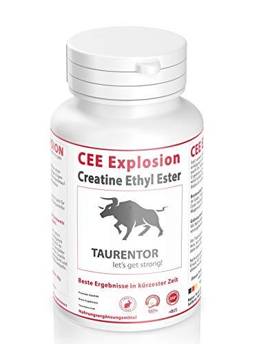CEE Explosion Creatine Ethyl Ester -Kapseln Muskelaufbau I Bodybuilding I Kreatin Kapseln (120)