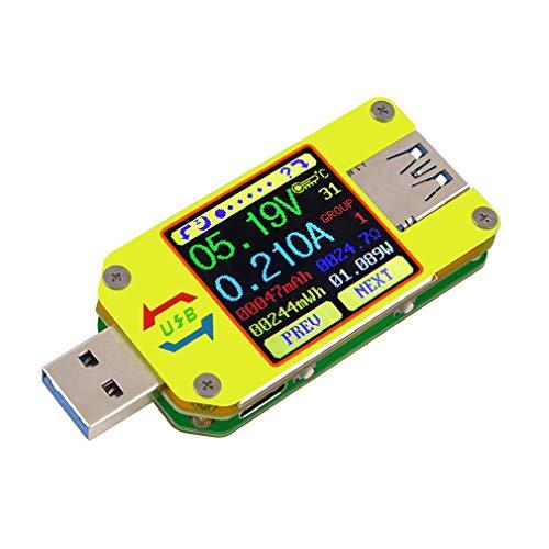 Leoboone RD UM34 für APP USB 3.0 Typ C DC LCD Display Voltmeter Amperemeter Batterieladespannung Strommesser Kabelwiderstand Tester (App Tester)