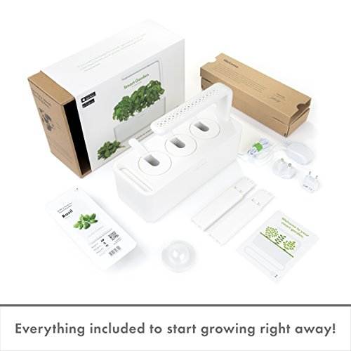 Click and Grow Smart Garden 3 Indoor Gardening Kit (Includes 3 Basil Plant Pods)
