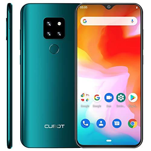 CUBOT P30 4G Smartphone ohne Vertrag 16.0cm (6.3 Zoll) FHD+ Wassertropfen Display 4+ 64 GB, Triple-Kamera, Dual-SIM, Android 9 4080mAh Face ID und Fingerabdrücke Grün Forest Green
