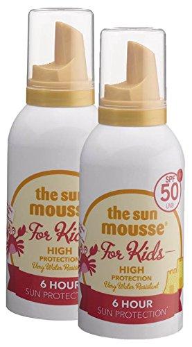 """Doppelpack \""""the sun mousse\"""" Kinder Baby parfümfrei parabenfrei Sonnenschutz-Schaum LSF50, 150 ml"""