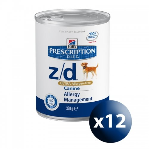 HILL\'S - HILL'S PRESCRIPTION DIET CANINE Z/D ULTRA ALLERGEN-FREE 410 GR. - 0479