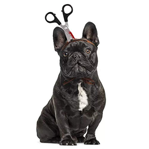 BaojunHT Halloween-Stirnband, Dekoration für Katzen, Hunde, lustige Hut, Cosplay, Kopfbedeckung mit Säge, Axt, Schere für Kätzchen und Welpen, braun, S (Braun Lieferung Mann Kostüm)