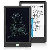 10 Pulgadas Tableta de Escritura LCD - Tablero de Dibujo Llave de Bloqueo Gráfico Electrónico para la Niños Oficina de la Escuela en el Hogar con Estuche(Negro)