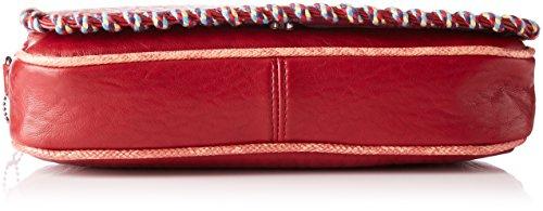 Lollipops Damen Andycup Clutch Schultertasche, 9x17x31 cm Rot (Red)