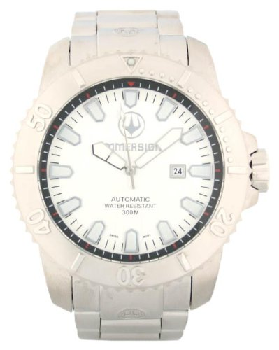 Immersion IM8501 Gents Watch Automatic Analogue White Dial Grey Steel Strap