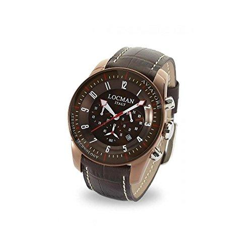 Orologio Locman Aviatore 0450bnbnfwrnpst Al quarzo (batteria) Acciaio...