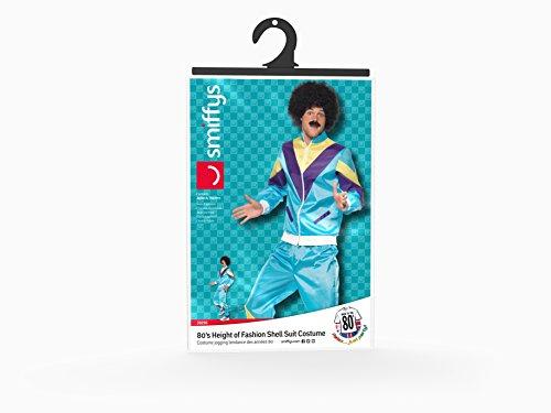 Smiffy's – 80er Jahre Kostüm für Herren Trainingsanzug Training Assianzug Assi in - 5