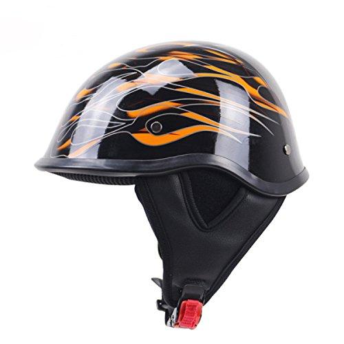 WKAIJCI Motorrad Helm Vintage Helm Cruise Helm Halbhelm Leichtes Design,A-L