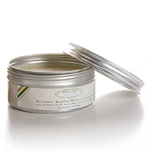 Alphy & Becs Shaving Soap - Sandalwood - Anti Ageing Properties with CO-Q10 & Olive Squalane - 100gr.
