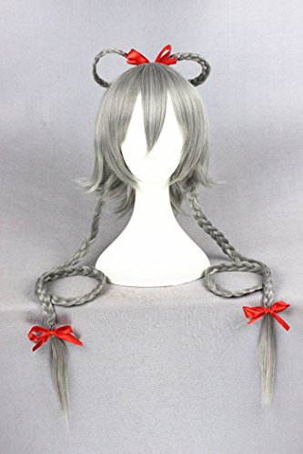 100cm grau Farbe Cosplay Perücken für VOCALOID und Halloween/Weihnachten (Halloween Womens Kostüme Beste)