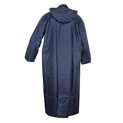 Dryon Women's Overcoat Raincoat (Navy_Blue)