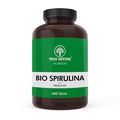 EINFÜHRUNGSANGEBOT - TRUE NATURE® Bio Spirulina Alge Presslinge - 600 Tabletten à 500mg - 6000mg - Vegan, Laborgeprüft und Made in Germany