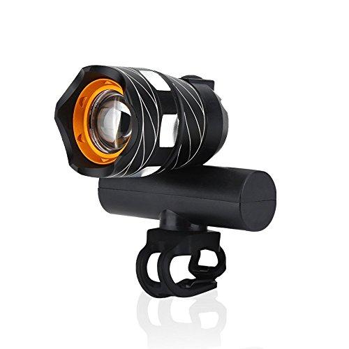 Luz Delantera de Bicicleta, Carga Por USB Faro LED con Montaje para Ciclismo