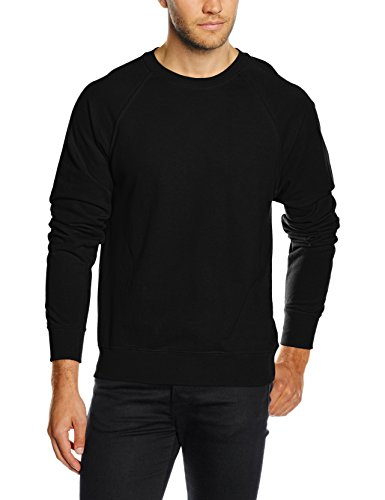 Fruit of the Loom Lightweight raglan sweatshirt Black XL - Super Sweat Crewneck Sweatshirt