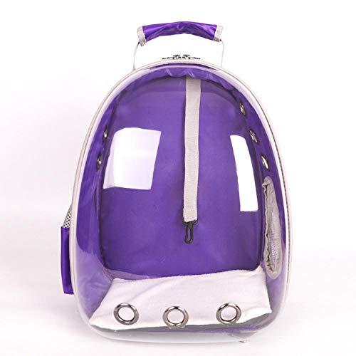 Katze Hund Rucksack, Puppy Pet Carrier Front Bag mit atmungsaktivem Head Out Design und Double Mesh gepolsterte Schulter für Outdoor @ Violet_32x25x42CM -