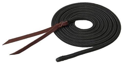 Weaver Leather Silvertip Tree Line Lead, Black, 1/2-Inch x 12-Feet