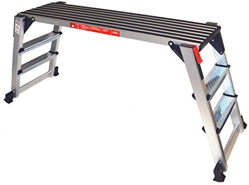 Arbeitsplattform Arbeitsbühne Gerüstleiter 70 cm Arbeitshöhe Aluleiter Tritt Stufentritt - Klappbare Arbeitsplattform