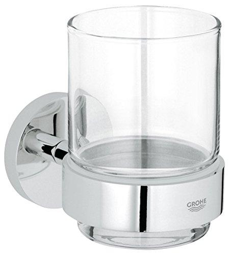 GROHE Essentials | Badaccessoires - Glas mit Halter | 40447001 (Grohe Bad-accessoires)