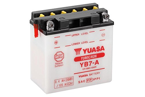 Batteria YUASA yb7di a, 12V/8AH (dimensioni: 137X 76X 135) per Suzuki GN125HS China anno di costruzione 2007
