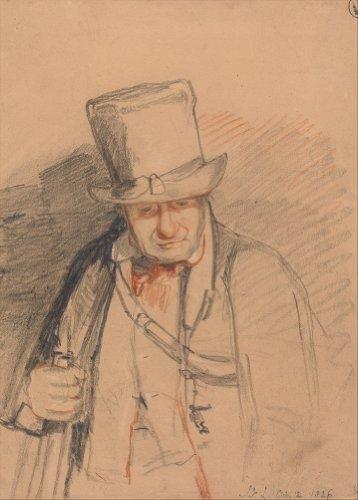 John Frederick Lewis a testa Keeper, Windsor Castle, 1826. English XIX secolo. Poster riproduzione su (Windsor Testa)