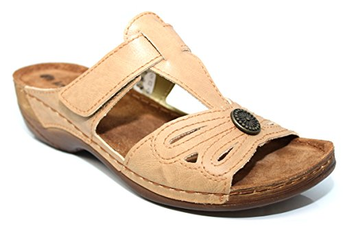 INBLU , Sandales pour femme Beige beige 16 Camel