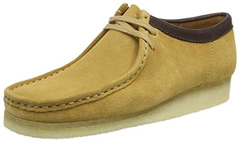 Clarks Originals Men's Wallabee Lace-Up Shoes, Camel Suede, 9.5 UK