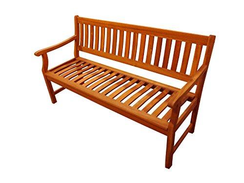 SAM® Akazie-Sitzbank New Jersey, massive Gartenbank für bis zu 3 Personen, Holzbank mit Armlehnen ideal für Garten Terrasse Balkon und Wintergarten, FSC® 100% zertifiziert - 2