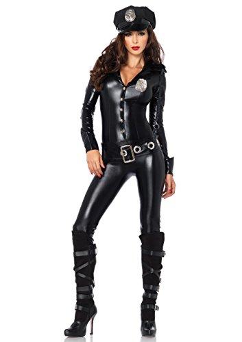 Leg Avenue 83912 - Officer Payne Kostüm, Größe S, schwarz