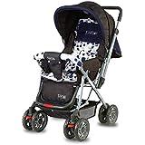 LuvLap Sunshine Stroller/Pram, Easy Fold, for Newborn Baby/Kids, 0-3 Years (Navy Blue)