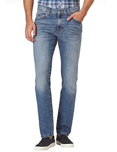 Pioneer Herren Straight Jeans Rando, Blau (Stone Used with Buffies 345), 50 (Herstellergröße: 3432)