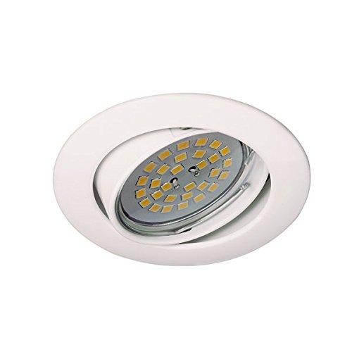 CristalRecord Zar - Foco empotrable, basculante 30°, color blanco
