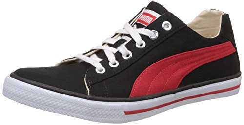 Puma Unisex Hip Hop 5 Dp Puma Black and High Risk Red Sneakers - 8 UK/India (42 EU)