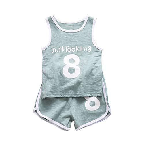 DWQuee Kleinkind Mädchen Jungen Kleidung Set Athletic Tank+Short Outfit für 1-5 Jahre Athletic-set