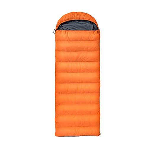 Yy.f Ferien Leichte Schlafsäcke Rucksäcke Wandern Camping Ultraleichte Kompakte Taschen Tragen Taschen Heizung Schlafsack Als Decke Oder Isomatte,Orange-210*75cm (Kompakte Doppel-heizung)